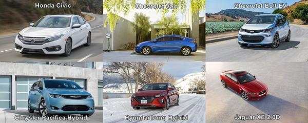 2017 Canadian Green Car Award Category Winners