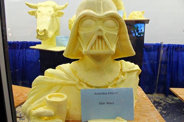 2014 Butter sculpting entrant. Photo: Eric Novak